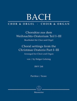 Chorsätze Aus Dem Weihnachts-Oratorium BWV 248, Part. 1-3 - laflutedepan.com