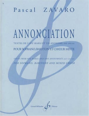 Pascal Zavaro - Annunciation - Sheet Music - di-arezzo.co.uk