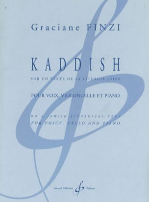 Graciane Finzi - Kaddish - Sheet Music - di-arezzo.co.uk