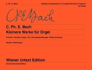 Carl-Philipp Emanuel Bach - Kleinere Werke Für Orgel - Partition - di-arezzo.fr