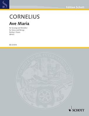 Ave Maria - Peter Cornelius - Partition - laflutedepan.com