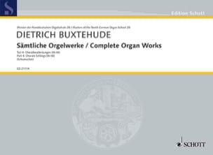 Œuvre D'orgue Complète Volume 4 BUXTEHUDE Partition laflutedepan