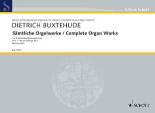 Dietrich Buxtehude - Œuvre D'orgue Complète Volume 3 - Partition - di-arezzo.fr