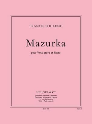 Francis Poulenc - Mazurka - Sheet Music - di-arezzo.co.uk