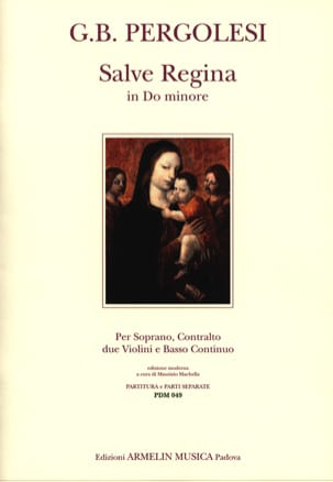 Giovanni Battista Pergolese - Salve Regina In C Minor For 2 Voices - Sheet Music - di-arezzo.co.uk