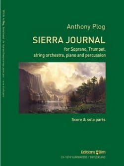 Anthony Plog - Sierra Journal - Partition - di-arezzo.fr