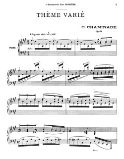 Cécile Chaminade - Varied Theme Opus 89 - Sheet Music - di-arezzo.com