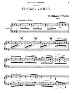 Cécile Chaminade - Tema variado Opus 89 - Partitura - di-arezzo.es