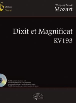 Dixit et Magnificat KV 193 - MOZART - Partition - laflutedepan.com
