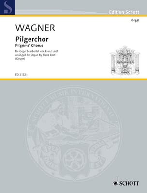 Pilgerchor WAGNER Partition Orgue - laflutedepan