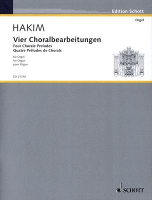 Naji Hakim - Vier Choralbearbeitungen - Partition - di-arezzo.fr