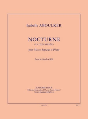 Isabelle Aboulker - Nocturne The Neglected - Sheet Music - di-arezzo.com