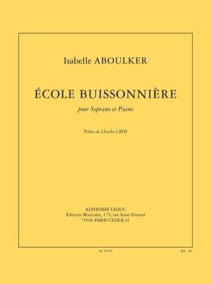 Ecole Buissonnière Isabelle Aboulker Partition Mélodies - laflutedepan
