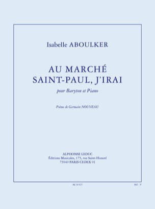 Isabelle Aboulker - At Marché Saint-Paul, I'll go - Sheet Music - di-arezzo.com