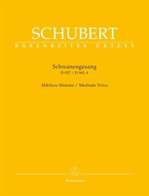 Le chant du cygne - Schwanengesang. Voix moyenne - Partition - di-arezzo.fr
