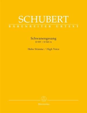 Franz Schubert - Schwanengesang. Voix haute - Partition - di-arezzo.fr