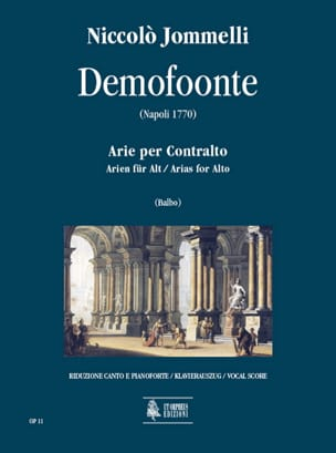Demofoonte Niccolo Jommelli Partition Mélodies - laflutedepan