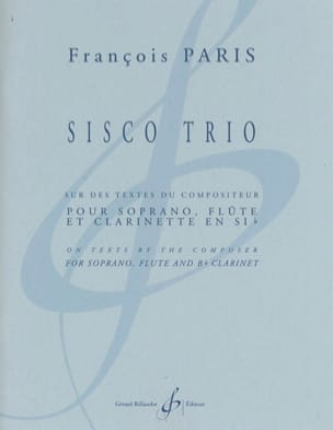 François Paris - Sisco Trio - Partition - di-arezzo.fr