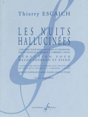 Thierry Escaich - Les Nuits Hallucinées - Partition - di-arezzo.fr