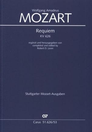 Requiem KV 626 MOZART Partition Chœur - laflutedepan