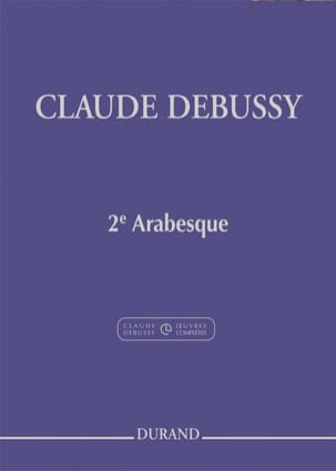 2ème Arabesque DEBUSSY Partition Piano - laflutedepan