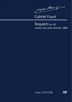 Gabriel Fauré - Requiem Opus 48. Version 1889 - Partition - di-arezzo.fr