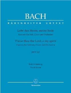 BACH - Cantate 143 Lobe Den Herrn, Meine Seele - Partition - di-arezzo.fr