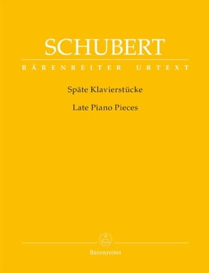 SCHUBERT - Late Piano Pieces - Sheet Music - di-arezzo.co.uk