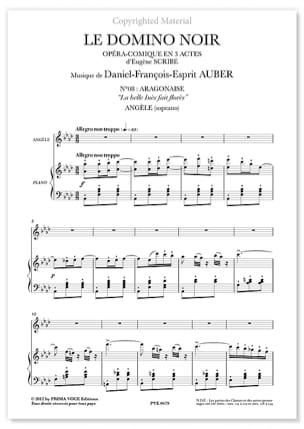 Daniel Auber - The Belle Inès Made Flores - The Black Domino - Sheet Music - di-arezzo.co.uk