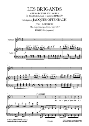 Jacques Offenbach - In Hat I wear an Egret. The Brigands - Sheet Music - di-arezzo.com