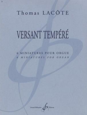 Versant Tempéré Thomas Lacôte Partition Orgue - laflutedepan