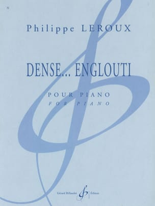 Philippe Leroux - Dense ... Engulfed - Sheet Music - di-arezzo.co.uk