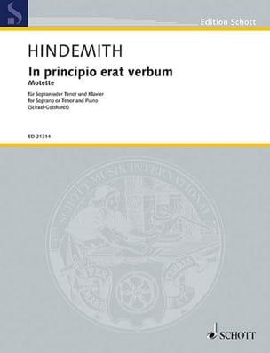 In Principio Erat Verbum - Paul Hindemith - laflutedepan.com