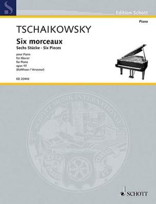 Six Pieces Op. 19 - Piotr Illitch Tchaikovsky - laflutedepan.com