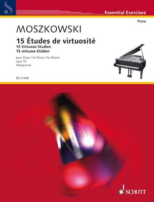 Moritz Moszkowski - 15 Virtuosity Studies Opus 72 - Partition - di-arezzo.co.uk