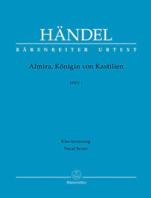 HAENDEL - Almira, Queen of Castile. Hwv1 - Sheet Music - di-arezzo.com