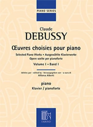 Oeuvres Choisies Pour Piano, Volume 1 DEBUSSY Partition laflutedepan