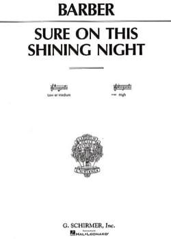 Sure On This Shining Night Opus 13-3 Samuel Barber laflutedepan