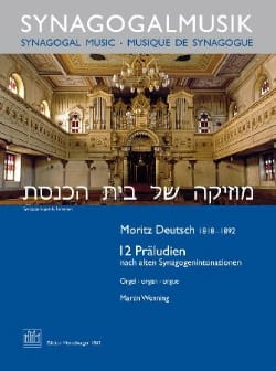 12 Präludien Moritz Deutsch Partition Orgue - laflutedepan
