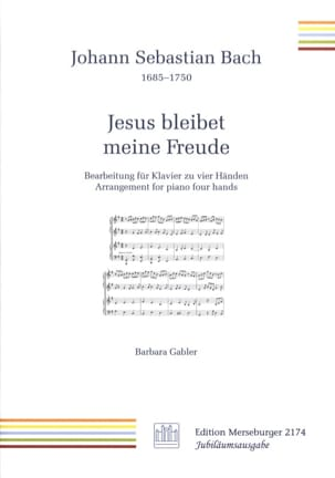 BACH - Jesus Bleibet Meine Freude. 4 hands - Sheet Music - di-arezzo.co.uk