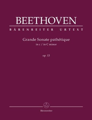 Sonate n° 8 Do mineur Opus 13 BEETHOVEN Partition Piano - laflutedepan