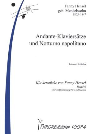 Fanny Hensel-Mendelssohn - Andante-Klaviersätze Und Notturno Napolitano - Partition - di-arezzo.fr