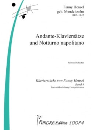 Fanny Hensel - Andante-Klaviersätze y Notturno Napolitano - Partitura - di-arezzo.es