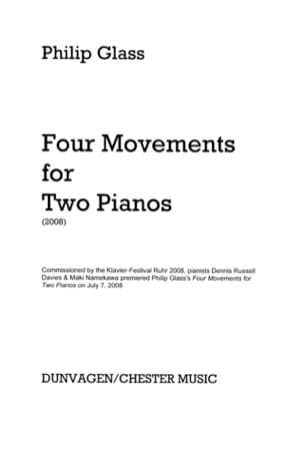 Philipp Glass - Four Movements For Two Pianos - Partition - di-arezzo.fr