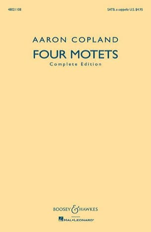 Aaron Copland - 4 Motets Mixed Choir SATB - Sheet Music - di-arezzo.co.uk