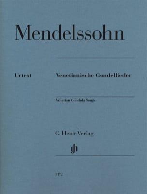 Barcarolles Vénitiennes MENDELSSOHN Partition Piano - laflutedepan