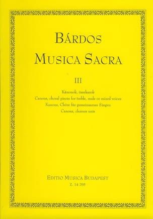 Lajos Bardos - Musica sacra vol 3 - Partition - di-arezzo.fr
