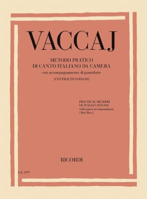 Nicola Vaccai - Practical method of Italian singing. Deep voice - Sheet Music - di-arezzo.com