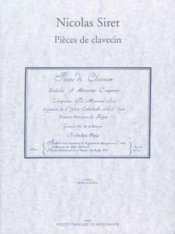Pièces de Clavecin Nicolas Siret Partition Clavecin - laflutedepan