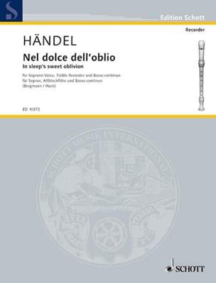 HAENDEL - Nel Dolce Dell'oblio Soprano, Flûte A Bec Alto et Basse Continue - Partition - di-arezzo.fr